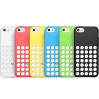 Apple iPhone 5 / 5C Silicone Polka Dots Seethrough Perforated Case - Pink